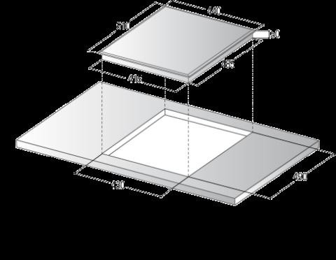 Valge induktsioon pliidiplaat laiusega 45cm IN45W