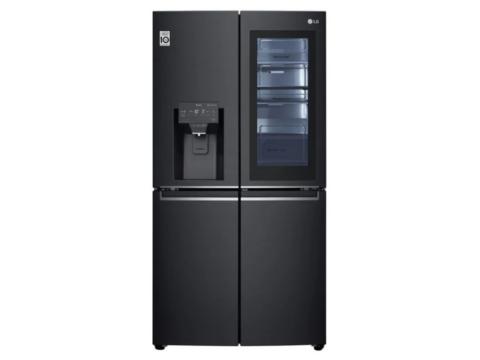 LG Side-By-Side InstaView Door-in-Door® jäämasinaga must külmik